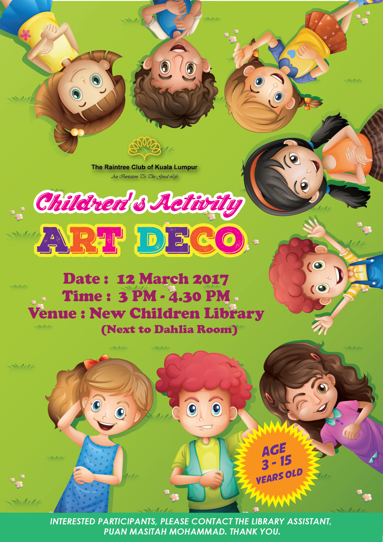 1_Children Library March Poster-01